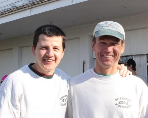 Ryan and 'Mr. O.   Photo by Kathy Habgood
