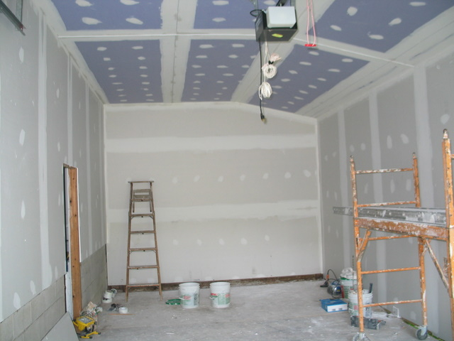 Garage drywall is up braddock bay bird observatory for Garage verdun gap